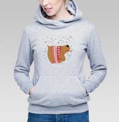 Спаниелька зимняя - Купить детские толстовки с собаками в Москве, цена детских толстовок с собаками  с прикольными принтами - магазин дизайнерской одежды MaryJane