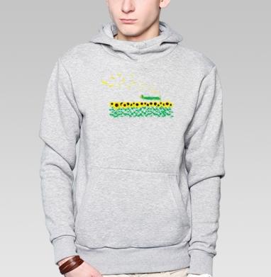 Sunflowers - Купить мужские толстовки Ниндзя в Москве, цена мужских  Ниндзя  с прикольными принтами - магазин дизайнерской одежды MaryJane