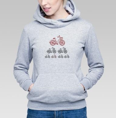 Велодвижение - Купить детские толстовки с велосипедом в Москве, цена детских толстовок с велосипедом  с прикольными принтами - магазин дизайнерской одежды MaryJane