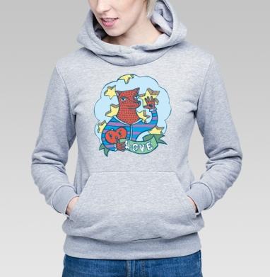 Волчик - Купить детские толстовки с волками в Москве, цена детских толстовок с волками  с прикольными принтами - магазин дизайнерской одежды MaryJane