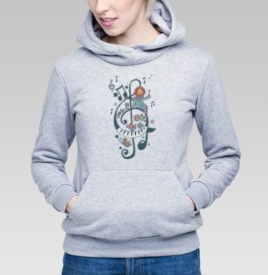 Волшебный ключик - Купить детские толстовки с нотами в Москве, цена детских толстовок с нотами  с прикольными принтами - магазин дизайнерской одежды MaryJane