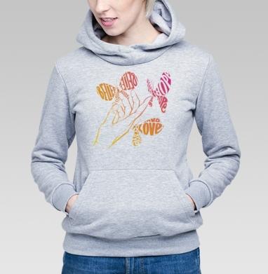 Все в твоих руках - Купить детские толстовки с бабочками в Москве, цена детских толстовок с бабочкой с прикольными принтами - магазин дизайнерской одежды MaryJane