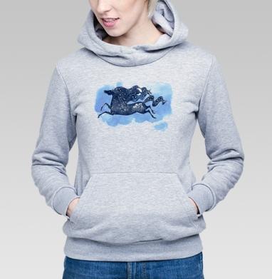 Зимняя ночь - Купить детские толстовки со сказками в Москве, цена детских толстовок со сказками  с прикольными принтами - магазин дизайнерской одежды MaryJane