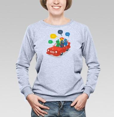 Кукушки - Купить женские свитшоты с автомобилями в Москве, цена женских свитшотов с автомобилями  с прикольными принтами - магазин дизайнерской одежды MaryJane