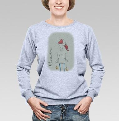 Снежинки - Купить детские свитшоты с едой в Москве, цена детских свитшотов с едой  с прикольными принтами - магазин дизайнерской одежды MaryJane