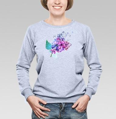 Ветка сирени - Купить детские свитшоты с акварелью в Москве, цена детских свитшотов с акварелью  с прикольными принтами - магазин дизайнерской одежды MaryJane