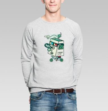 3д сила - Купить мужские свитшоты с велосипедом в Москве, цена мужских  с велосипедом  с прикольными принтами - магазин дизайнерской одежды MaryJane