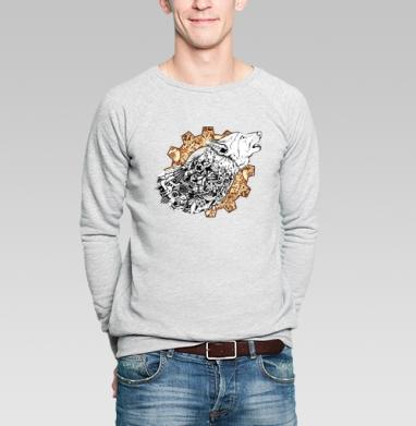 Волк - Купить мужские свитшоты с волками в Москве, цена мужских  с волками  с прикольными принтами - магазин дизайнерской одежды MaryJane