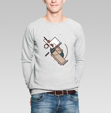 Баскетбол в супрематизме - Купить мужские свитшоты с геометрическим рисунком в Москве, цена мужских свитшотов с геометрическим рисунком  с прикольными принтами - магазин дизайнерской одежды MaryJane