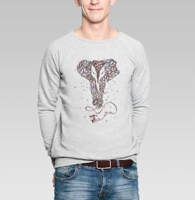 Джинн - Купить мужские свитшоты с йогой в Москве, цена мужских свитшотов с йогой  с прикольными принтами - магазин дизайнерской одежды MaryJane