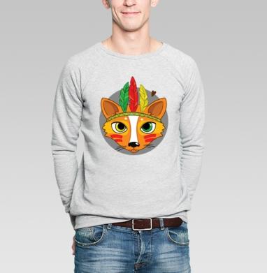 Фокс - Купить мужские свитшоты с индейцами в Москве, цена мужских свитшотов с индейцами  с прикольными принтами - магазин дизайнерской одежды MaryJane