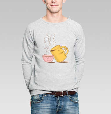 ЖИЗНЬ НА ДВОИХ - Купить мужские свитшоты с едой в Москве, цена мужских свитшотов с едой  с прикольными принтами - магазин дизайнерской одежды MaryJane