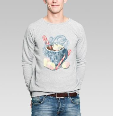 Какао с зефирками - Купить мужские свитшоты сладости в Москве, цена мужских свитшотов со сладостями  с прикольными принтами - магазин дизайнерской одежды MaryJane