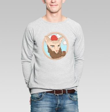 Кот-мореход - Купить мужские свитшоты морские  в Москве, цена мужских свитшотов морских   с прикольными принтами - магазин дизайнерской одежды MaryJane