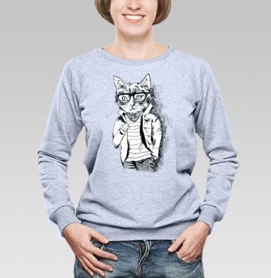 Котэ-хипстэ - Купить детские свитшоты модные в Москве, цена детских свитшотов модных  с прикольными принтами - магазин дизайнерской одежды MaryJane