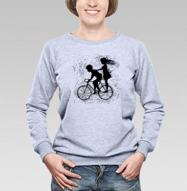 Летнее, велосипедное - Купить детские свитшоты с любовью в Москве, цена детских свитшотов с любовью  с прикольными принтами - магазин дизайнерской одежды MaryJane