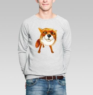 Лисяка удивляка - Купить мужские свитшоты с акварелью в Москве, цена мужских  с акварелью  с прикольными принтами - магазин дизайнерской одежды MaryJane