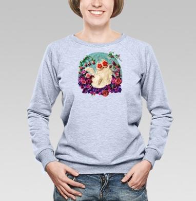 Мартовский Мур - Купить женские свитшоты с роами в Москве, цена женских свитшотов с розой с прикольными принтами - магазин дизайнерской одежды MaryJane