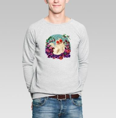 Мартовский Мур - Купить мужские свитшоты с кошками в Москве, цена мужских  с кошками  с прикольными принтами - магазин дизайнерской одежды MaryJane