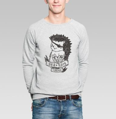 Морской волк  - Купить мужские свитшоты с пиратом в Москве, цена мужских свитшотов пиратских с прикольными принтами - магазин дизайнерской одежды MaryJane