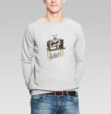 Мыльная опера - Купить мужские свитшоты с илюстрациями в Москве, цена мужских свитшотов с илюстрациями  с прикольными принтами - магазин дизайнерской одежды MaryJane