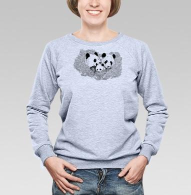 Панда - Купить женские свитшоты с природой в Москве, цена женских свитшотов с природой  с прикольными принтами - магазин дизайнерской одежды MaryJane