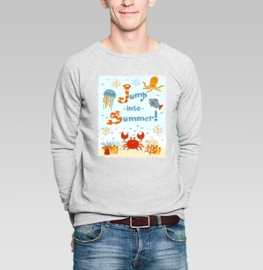 Прыжок в лето - Купить мужские свитшоты с рыбой в Москве, цена мужских свитшотов с рыбой  с прикольными принтами - магазин дизайнерской одежды MaryJane
