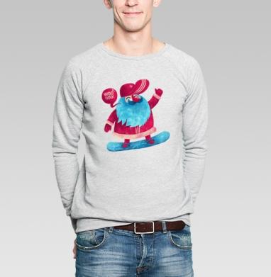Рождественский сноубординг - Купить мужские свитшоты спортивные в Москве, цена мужских  спортивных  с прикольными принтами - магазин дизайнерской одежды MaryJane