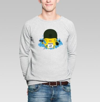 РЫБАКА НЕ ВИДЕЛИ? - Купить мужские свитшоты с оружием в Москве, цена мужских свитшотов с оружием  с прикольными принтами - магазин дизайнерской одежды MaryJane