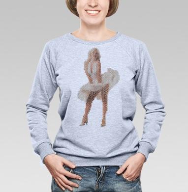 Cвитшот женский, толстовка без капюшона  серый меланж - Секс-символ