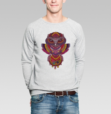Совуша с ловцом - Купить мужские свитшоты этно в Москве, цена мужских  этно  с прикольными принтами - магазин дизайнерской одежды MaryJane