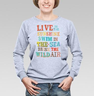 Sunshine, sea and air - Купить детские свитшоты с пиратом в Москве, цена детских свитшотов пиратских с прикольными принтами - магазин дизайнерской одежды MaryJane