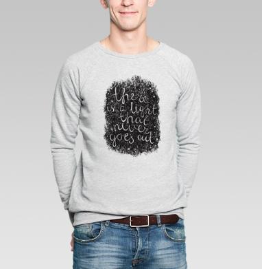 Свет - Купить мужские свитшоты с цитатами в Москве, цена мужских  с цитатами  с прикольными принтами - магазин дизайнерской одежды MaryJane