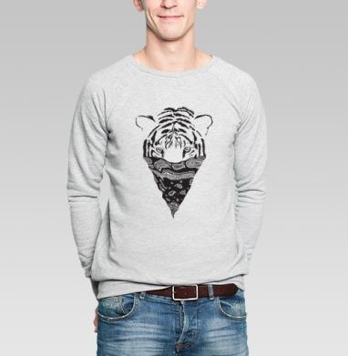 Тигр - Купить мужские свитшоты с тигром в Москве, цена мужских свитшотов с тиграми  с прикольными принтами - магазин дизайнерской одежды MaryJane