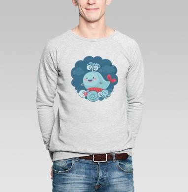 Веселый кит - Купить мужские свитшоты морские  в Москве, цена мужских свитшотов морских   с прикольными принтами - магазин дизайнерской одежды MaryJane