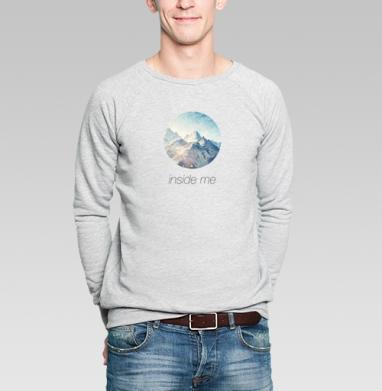 Внутри меня - Купить мужские свитшоты с природой в Москве, цена мужских свитшотов с природой  с прикольными принтами - магазин дизайнерской одежды MaryJane