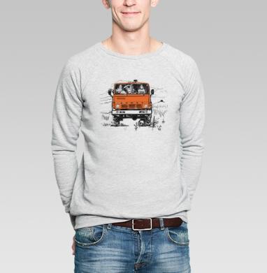 3 богатыря и Камаз - Купить мужские свитшоты с автомобилями в Москве, цена мужских свитшотов с автомобилями  с прикольными принтами - магазин дизайнерской одежды MaryJane