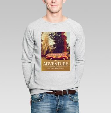 Adventure - Купить мужские свитшоты с автомобилями в Москве, цена мужских свитшотов с автомобилями  с прикольными принтами - магазин дизайнерской одежды MaryJane