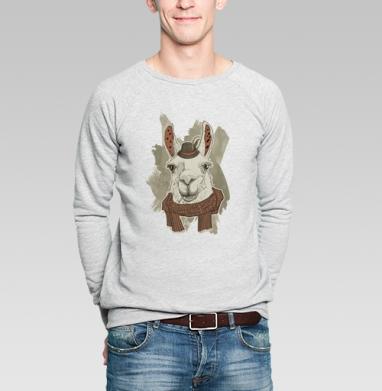 Бэдэс лама - Купить мужские свитшоты с дымом в Москве, цена мужских свитшотов с дымом  с прикольными принтами - магазин дизайнерской одежды MaryJane