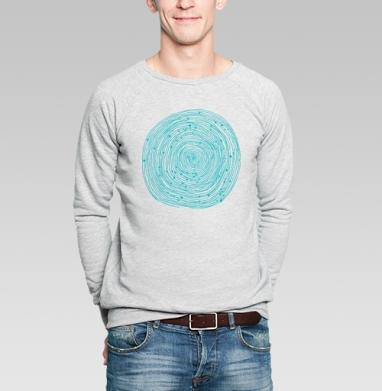 Бирюзовый абстрактный орнамент  - Купить мужские свитшоты Текстуры в Москве, цена мужских свитшотов Текстуры с прикольными принтами - магазин дизайнерской одежды MaryJane