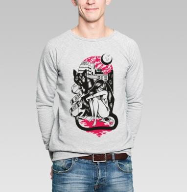 BLACK CAT - Купить мужские свитшоты с городами в Москве, цена мужских  с городами  с прикольными принтами - магазин дизайнерской одежды MaryJane