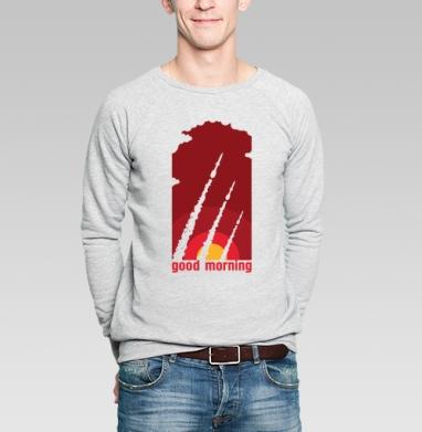 Доброе утро - Купить мужские свитшоты с оружием в Москве, цена мужских свитшотов с оружием  с прикольными принтами - магазин дизайнерской одежды MaryJane