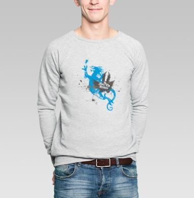 Dragon love - Купить мужские свитшоты с бабочками в Москве, цена мужских свитшотов с бабочкой с прикольными принтами - магазин дизайнерской одежды MaryJane