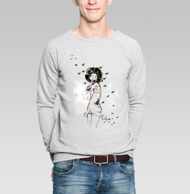 Ежна - Купить мужские свитшоты романтика в Москве, цена мужских  романтических  с прикольными принтами - магазин дизайнерской одежды MaryJane