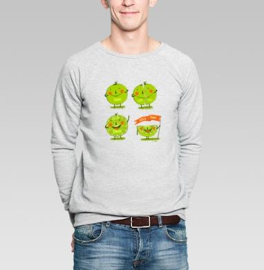 Эмоции лайма - Купить мужские свитшоты со смайлами в Москве, цена мужских  со смайлами с прикольными принтами - магазин дизайнерской одежды MaryJane