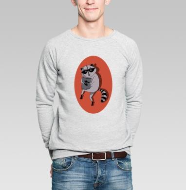 Енот ворует коврик - Купить мужские свитшоты нежность в Москве, цена мужских свитшотов нежность  с прикольными принтами - магазин дизайнерской одежды MaryJane