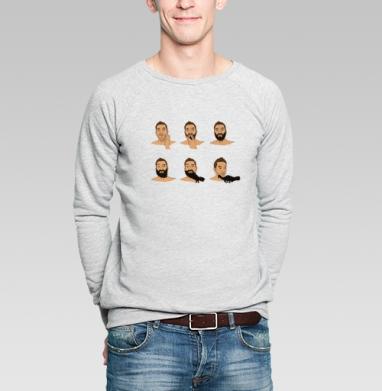 Эволюция бороды - Купить мужские свитшоты с бородой в Москве, цена мужских свитшотов с бородой  с прикольными принтами - магазин дизайнерской одежды MaryJane
