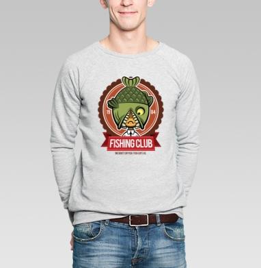 Fishing Club - Купить мужские свитшоты с рыбой в Москве, цена мужских свитшотов с рыбой  с прикольными принтами - магазин дизайнерской одежды MaryJane