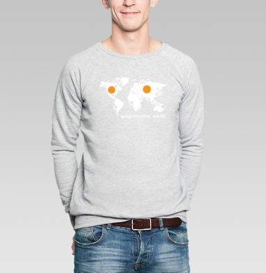 Good morning world  - Купить мужские свитшоты с надписями в Москве, цена мужских свитшотов с надписями  с прикольными принтами - магазин дизайнерской одежды MaryJane