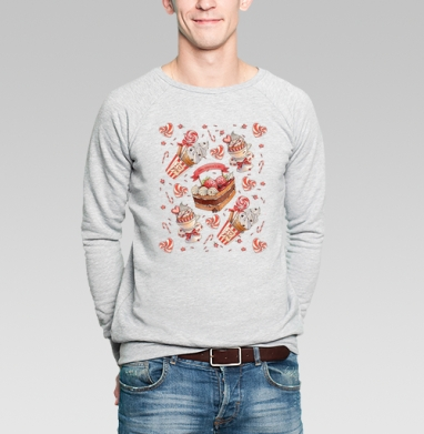 Happy Valentine's Day pattern - Купить мужские свитшоты Новый год в Москве, цена мужских  новогодних  с прикольными принтами - магазин дизайнерской одежды MaryJane